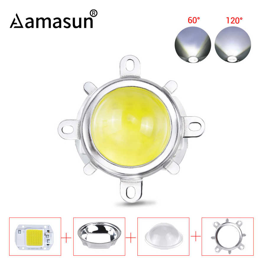 110V 220V 20W 30W 50W COB LED Chip Manik-manik dengan 60/120 Gelar Lensa Reflektor Smart IC Tongkol Chip Array Matriks DIY Lampu Sorot