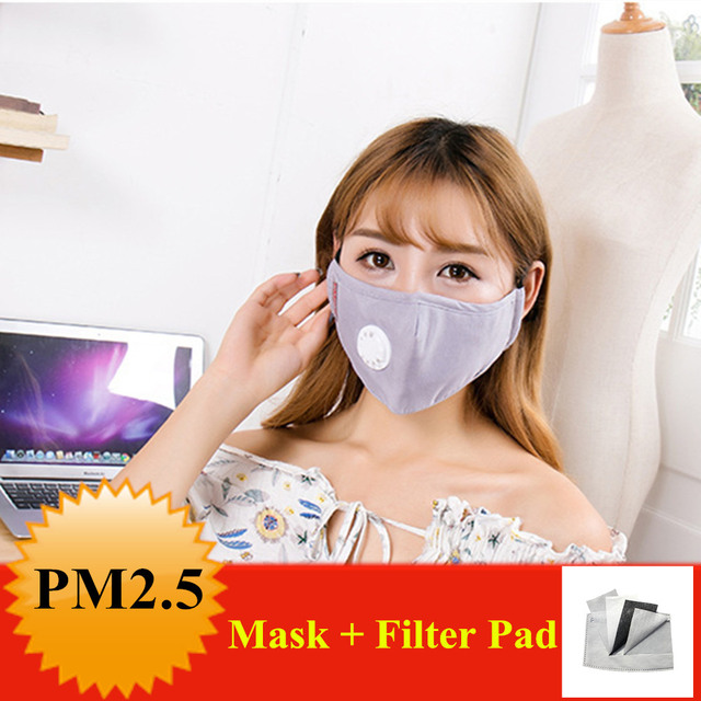 Cotton PM2.5 mouth Mask Anti Haze Anti-dust Mask Activated Carbon Filter Respirator bacteria proof Flu Face masks Muffle