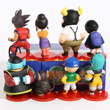 Dragon Ball Super WCF DWC Goku Gohan Bulma Krillin Kaio bulles boeuf-roi Chichi Pilaf Shu Mai figurines en PVC jouets 8 pièces/ensemble