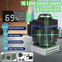 Laser Level 16 Lines 3D Self-Leveling 360 Horizontal And Vertical Cross ful Green Laser Beam Line