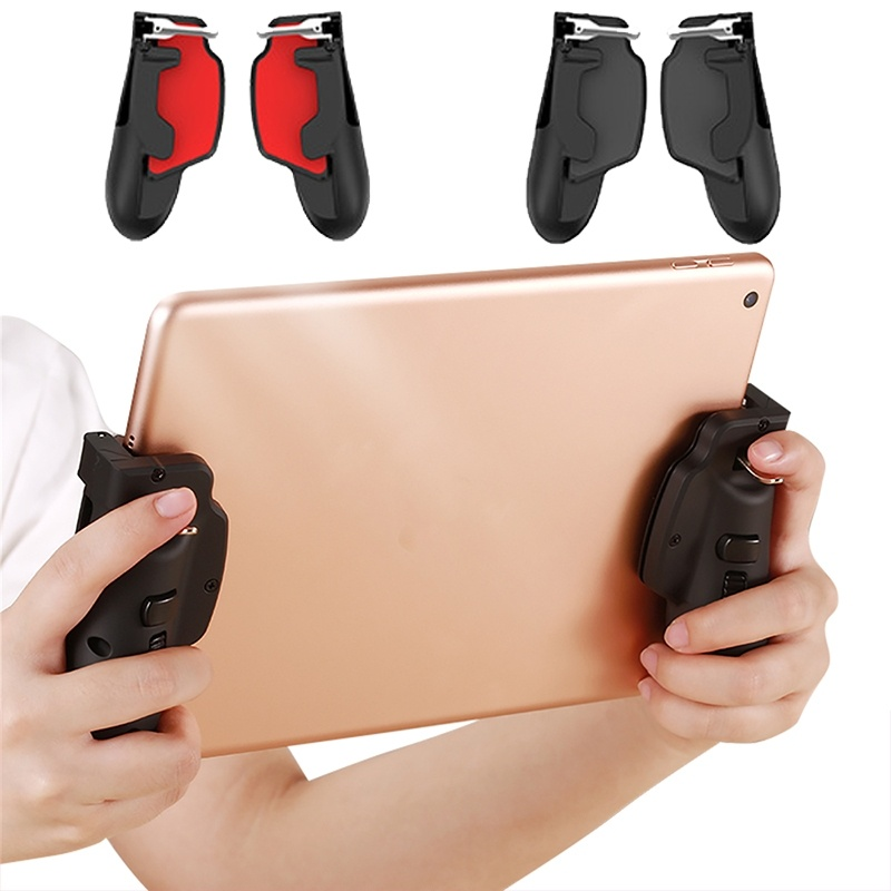 New PUBG Gamepad Joystick Gamer Mobile Gamepad Gaming Trigger Shooter Controller PUBG L1R1 Controller for IPad IPhone Tablet Et