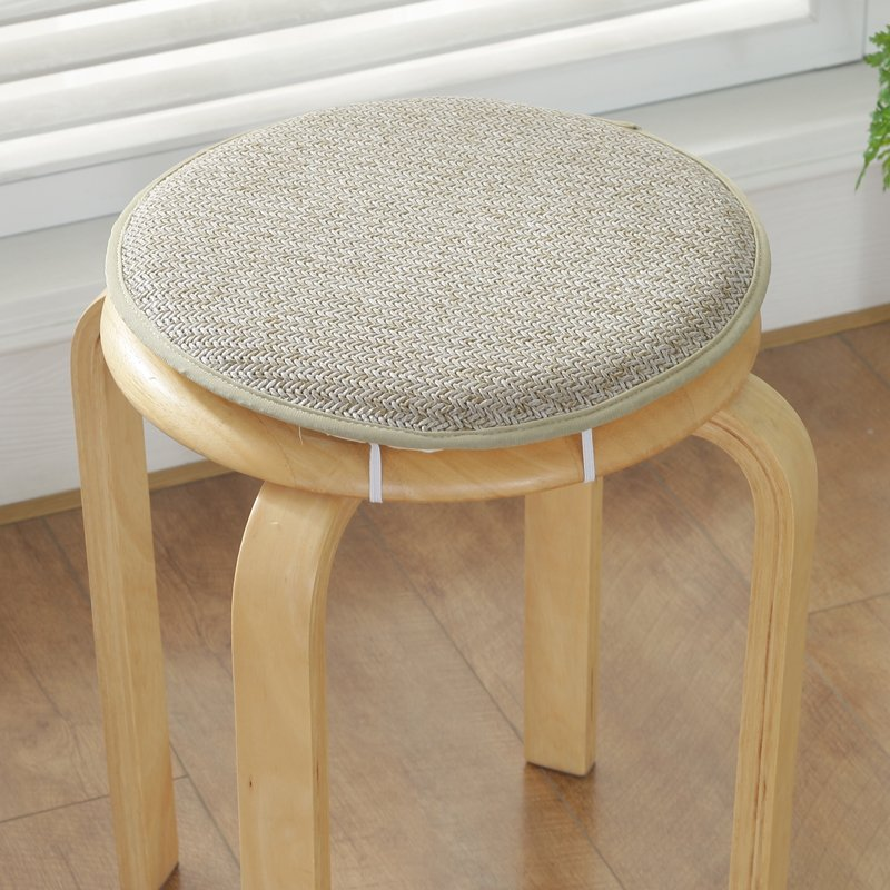 Comfortable Kitchen Indoor Seat Pad Buttocks Chair Cushion Non Slip Dining Chair Pad Round Stool Cushion Sponge Thick Seat Pad