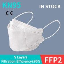 1-100 pces moda máscara facial kn95 tipo peixe máscara boca à prova de poeira Anti-PM2.5 respirador respirável reutilizável protetora ffp2 máscara