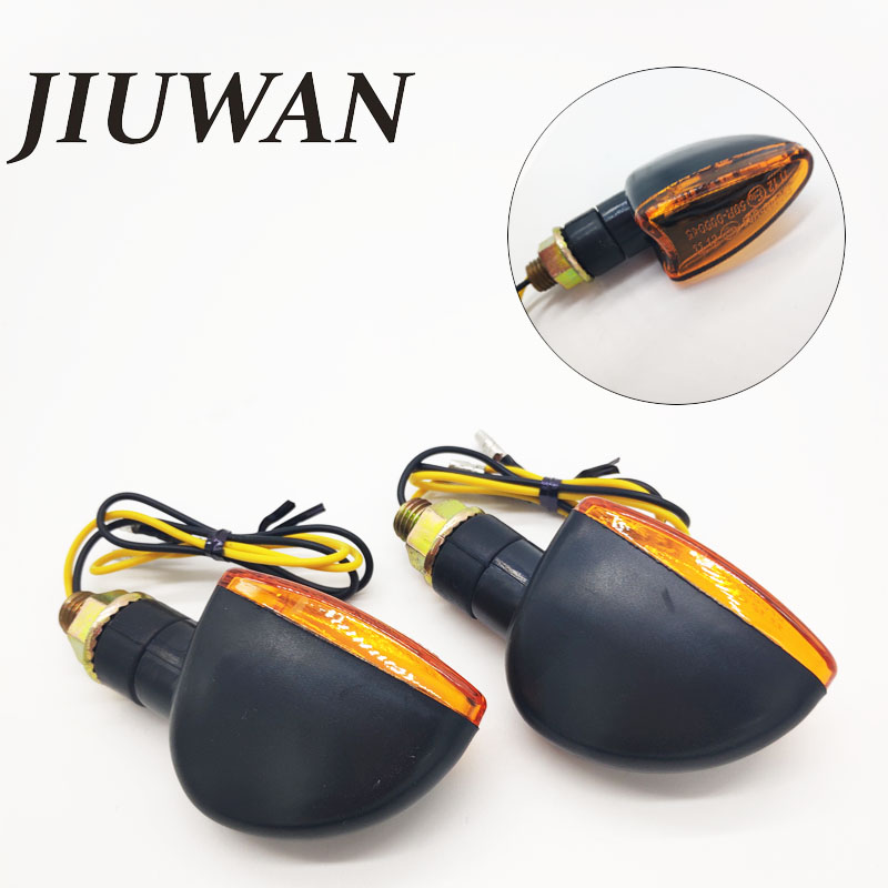 JIUWAN 2Pcs Universal Motorcycle Turn Signal 12V  LED Indicators Light Amber Flashers Lighting Motorbike Lamp Super Bright
