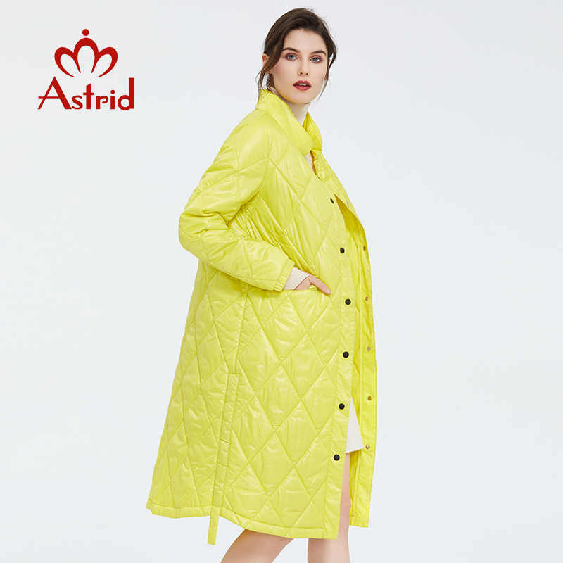 Astrid 2020 봄 여성 파카 코트 웜 자켓 여성 얇은면 퀼트 코트 스탠딩 칼라 새 컬렉션 빅 사이즈 ZM-7214