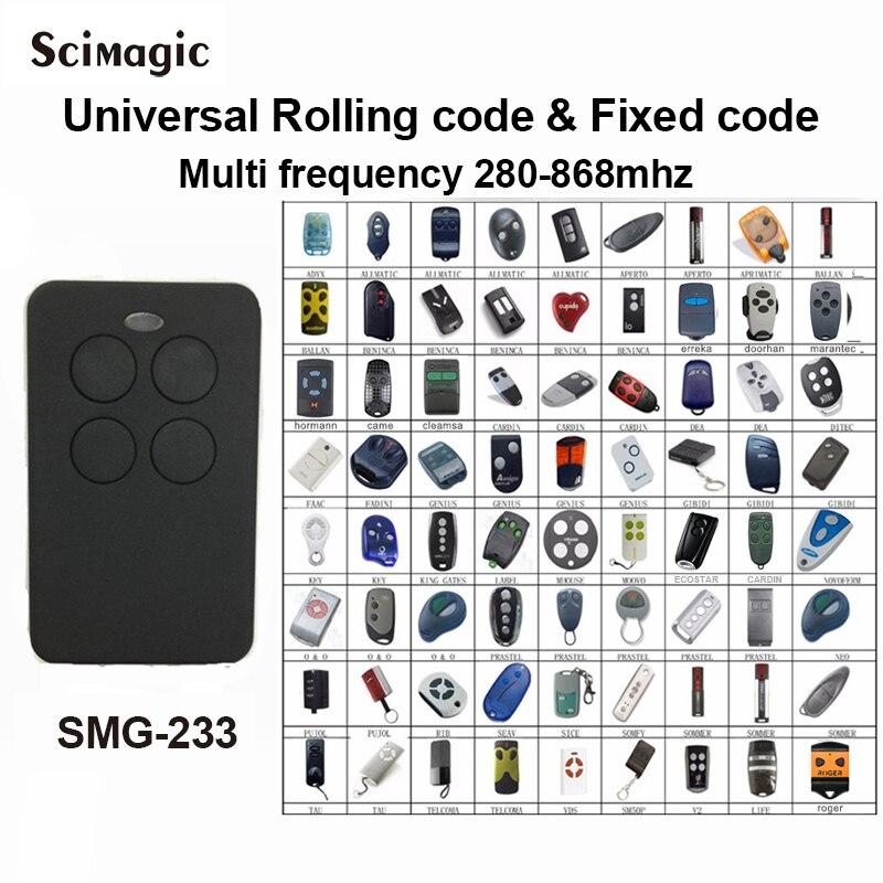 280-868MHZ Multifrequency Garage Door Remote Control Copy Duplicator For 433mhz 868mhz Garage Remote Multi Brand Remote Control