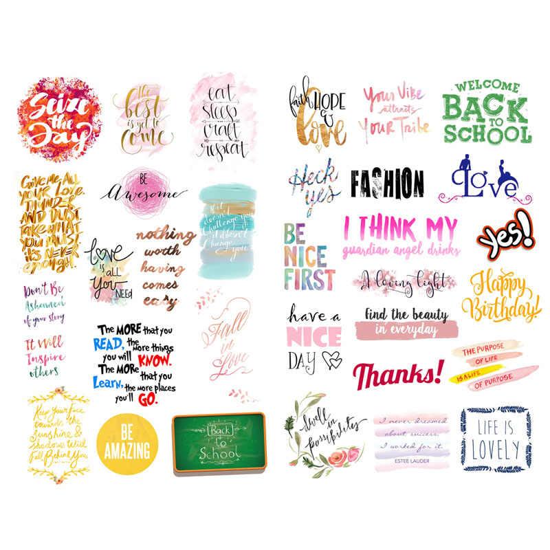 1 PCS Cute Mini Watercolor Greeting Letter Words Label ...