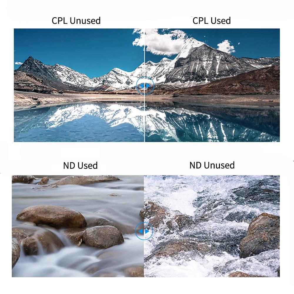 TELESIN 4Pack ND8 ND16 ND32 CPL ensemble de filtres magnétiques protecteur d'objectif ND CPL filtre pour Gopro Hero 8 Action caméra objectif Accessoreis