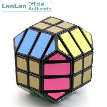LanLan 4x4 12 Rhombic Magic Cube Speed Puzzle Antistress Brain Teasers Educational Toys For Children yongjun diamond symbol 3x3x3 magic cube yj 3x3 professional neo speed puzzle antistress fidget educational toys for children