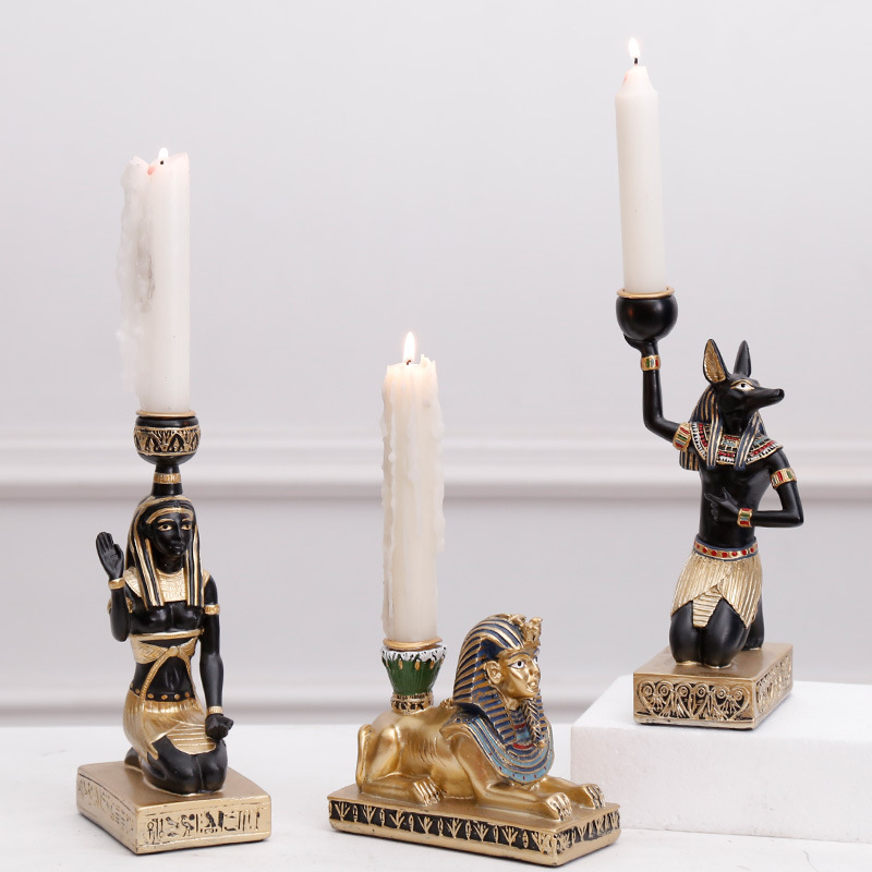 Ancient Egypt Gods Candle Holder Free Shipping