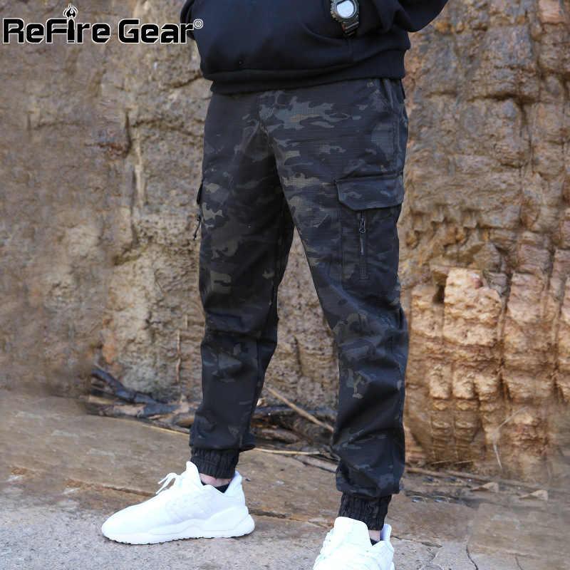 Pantalones ReFire Gear de camuflaje tácticos para correr para hombres, pantalones militares Airsoft de combate para hombres, pantalones casuales a prueba de agua, pantalones Cargo a la moda