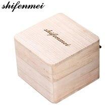 Деревянная квадратная коробка для наручных часов деревянный
