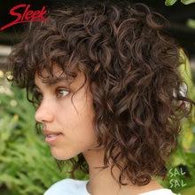 Sleek короткие парики из человеческих волос для Для женщин curl