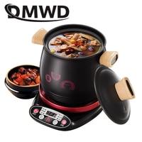 DMWD Household 3.0L Electric Multifunctional cooker Microcomputer Stew soup timing ceramic porridge pot 500W Black