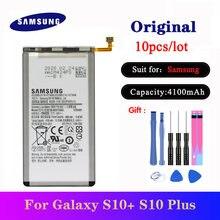 Оригинальный аккумулятор для samsung galaxy s10 + plus 10 шт/лот