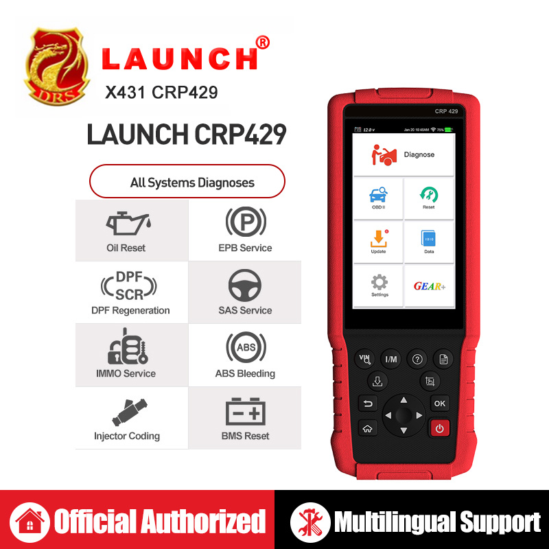Launch X431 CRP429 OBD2 Scanner OBD Diagnostic Scan Tool Auto Code Reader All System Diagnoses CRP 429 PK X431 CRP429C IMMO DPF-in Engine Analyzer from Automobiles & Motorcycles