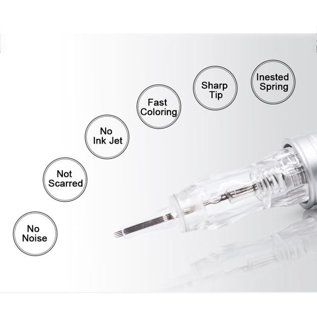 10pcs Cartridge Needle 2F 3F 4F 5F 7F Permanent Microblading Needle Disposable for Eyebrow lip Makeup Pen Machine Needles Tips 2