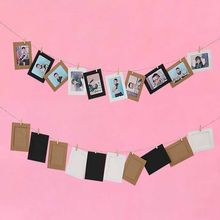 10Pcs White Black DIY Paper Photo Frame Halloween Decoration mariage Wedding Bachelorette Party New Year Christmas Home Deco 6XZ(China)