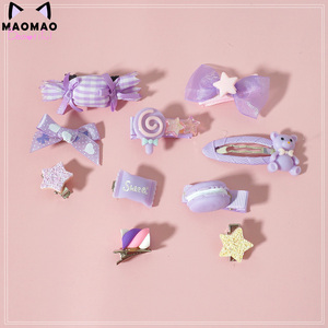 Image 2 - Lo Mother for sweet hand violet powder was yellow lolita small hairpin Hair bared sweet soft candy bear sister Meng
