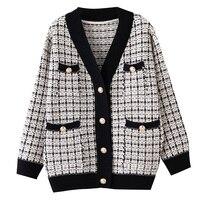 Высокое качество, роскошный бренд, зимний свитер, куртка, пальто для женщин, женская верхняя одежда, пальто в Европейском стиле, Повседневна...