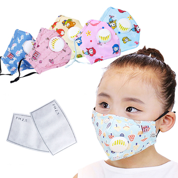 1Pcs 8 Colors Fashion Children Face Mask Anti Dust Mouth Mask Cotton Respirator kids Face Mouth Mask