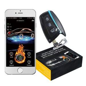 Image 1 - Cardot 4G astuto di gps gsm push pulsante di avvio dellautomobile di inizio a distanza allarme app avviare sos di allarme centrale di allarme di blocco sistema di