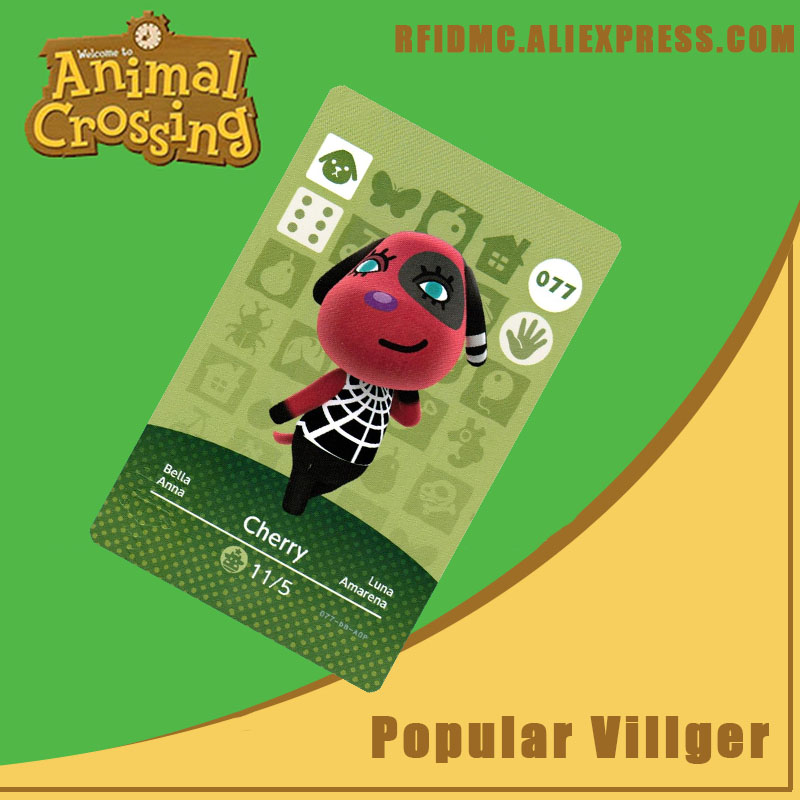 077 Cherry Animal Crossing Card Amiibo For New Horizons
