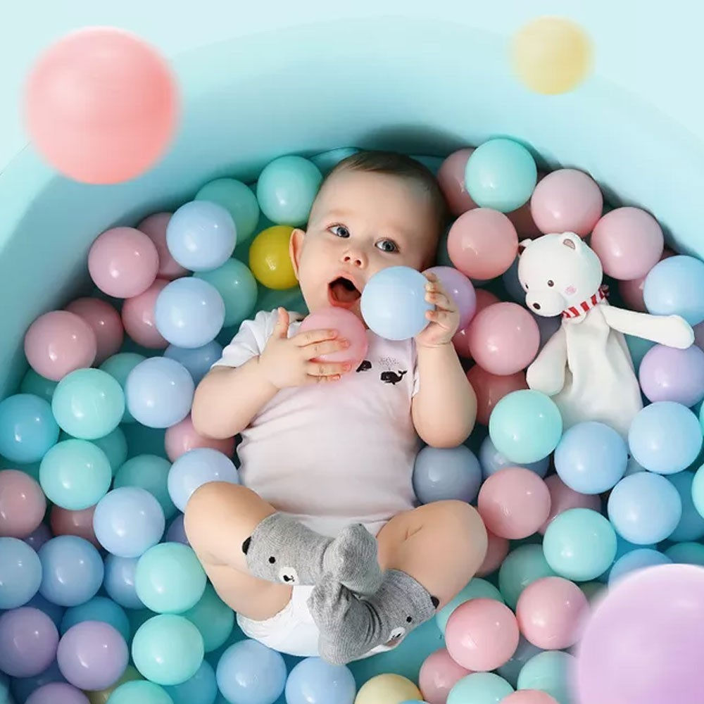 200 Pcs Plastic Ocean Ball Eco-Friendly Colorful Balls Soft Funny Baby Kids Swim Pit Toys Water Pool Ocean Wave Ball Dia 5.5cm