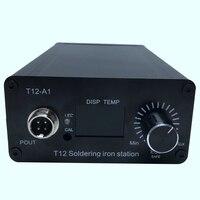 110V 220V Цифровой паяльник станция готовой контроллер для T12 ручка  ЕС вилка