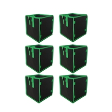 6Pcs/Set Square Grow Bags Thick Fabric with Handles for Indoor and Outdoor Garden