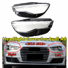 Car Styling Replacement Parts Light Covers Front Bumper PC Headlamp Frame Headlight Lens Cover For Audis A6 C7PA 2016 2017 2018