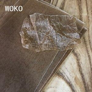 Image 5 - WOKO 100 sztuk Vintage strona zagraniczna papier pakowy tło materiał Retro paproć roślin papier woskowany naklejki etykiety DIY Album Scrapbooking