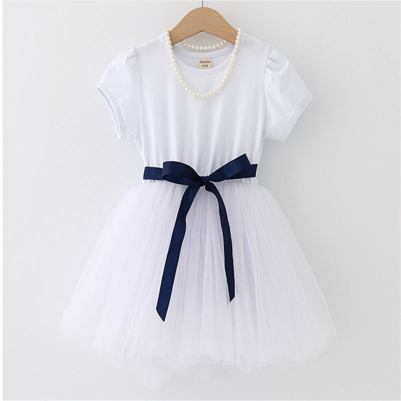 Summer Kids Dresses For Girls short Sleeve Children Clothing Tutu Girls Casual School Wear Princess Party Dress 2020 New 25 3