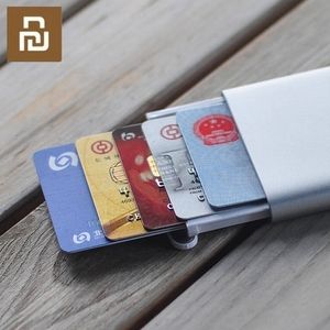 Image 5 - Original Youpin Rice Card Case Men Women Business Metal Wallet Card Holder Aluminum Smart Card Case Can Bank Card