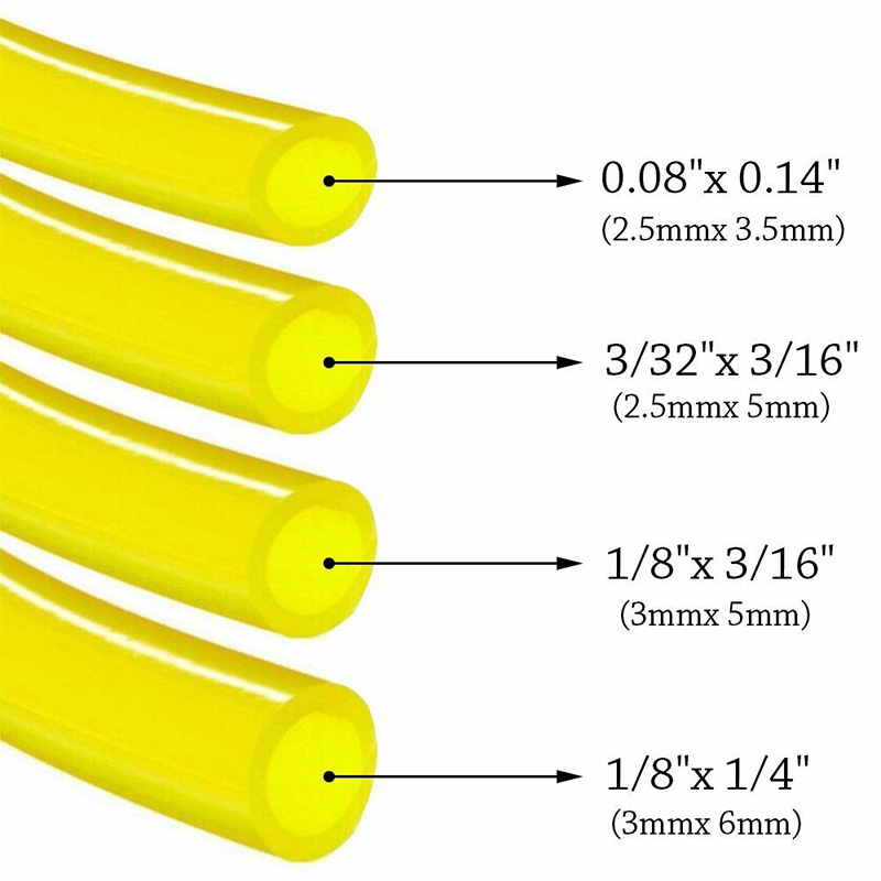 4PCS 4 Sizes Fuel Line Hose Gas Pipe Tubing For Trimmer Chainsaw Blower Tools Oil Fuel Pipe Gasoline Gasoline Pipe