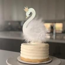 На Заказ Блестящий лебедь торт Топпер день рождения детский душ торт Топпер | Лебединое озеро украшения | Лебедь принцесса кекс Топпер соломинки