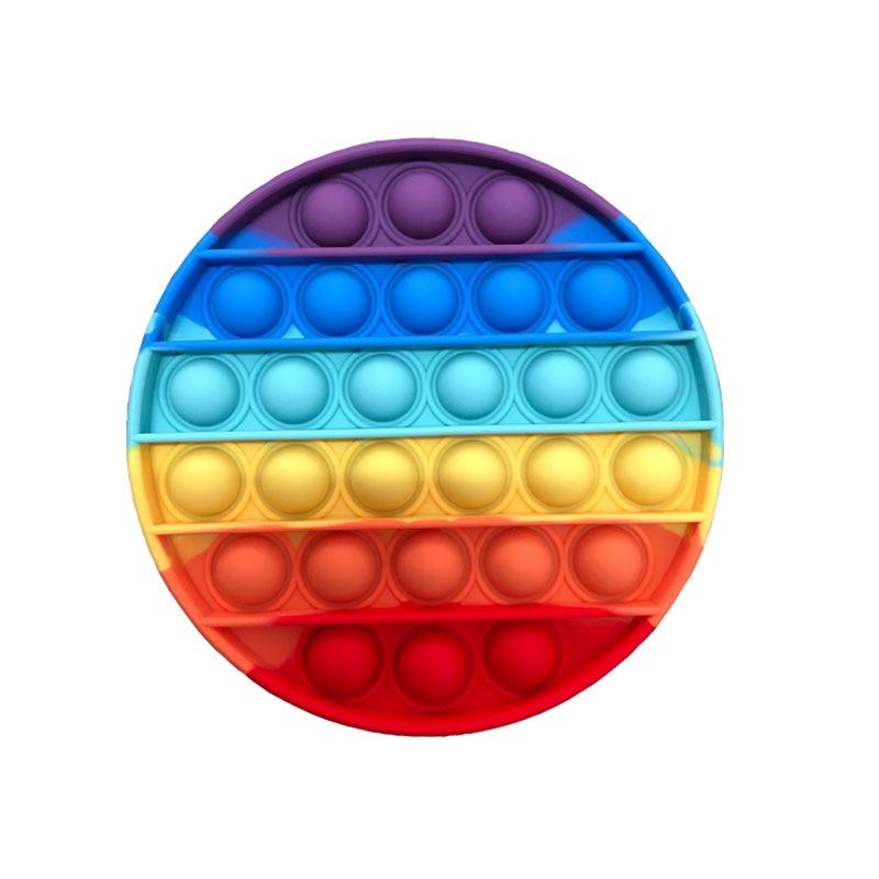 Новые красочные круглые пузырьки-антистресс, сенсорные игрушки, единорог, осьминог, простые диммы, снятие стресса, военная настольная игра