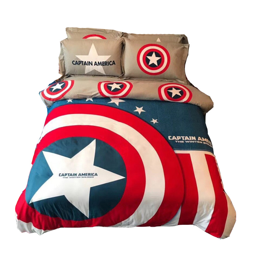Disney Marvel The Avengers Beddings 3d Comforter Set Single Queen King Size Boy Adult The Avengers Gift Duvet Cover Pillow Cases
