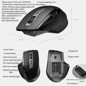 Image 5 - Rapooワイヤレス 2.4 グラムマウス充電式マルチモードbluetoothビジネスオフィス