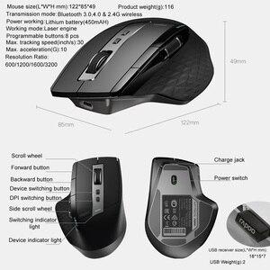 Image 5 - Rato recarregável sem fio do bluetooth do multi modo dos ratos 2.4g de rapoo para o escritório do negócio
