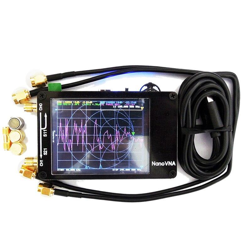 Portable Digital NanoVNA Vector Network Analyzer Touching Screen Shortwave HF VHF UHF Antenna Analyzer Standing Wave For Battery