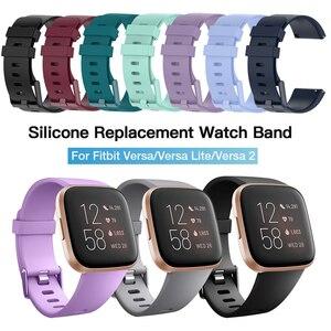 Image 1 - Acessórios de pulseira para fitbit versa 2, pulseira de silicone macio à prova dágua pulseira de relógio para substituição para fitbit versa/versa 2