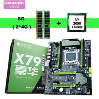 New HUANANZHI X79 motherboard with dual M.2 slot motherboard with CPU RAM bundle CPU Xeon E5 2690 2.9GHz RAM 8G(2*4G) REG ECC