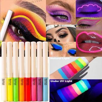 8 Colors Neon Eyeliner Pen Water Liquid Eyeliner Pencil UV Light Pastels Pastel-Black Light Glow Eye Makeup Cosmetics TSLM1 1
