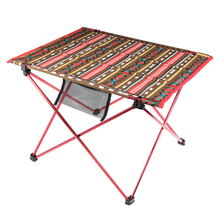 Vintage Oxford portátil plegable Camping Picnic Roll Up mesa con bolsa de transporte