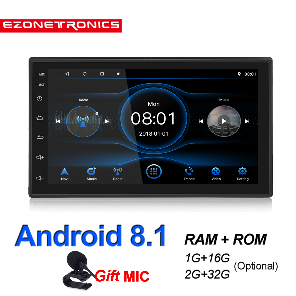Ezonetronics Android Car Radio Stereo 7 inch Capacitive Touch Screen High Definition 1024x600 GPS Navigation USB SD Player 1G DDR3 16G NAND Memory Flash 0011