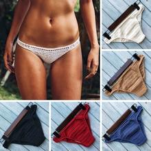 Have Lining Bikini Bottoms Plus Size 2019 Women Sexy Crochet Thong Bikini Swimwe