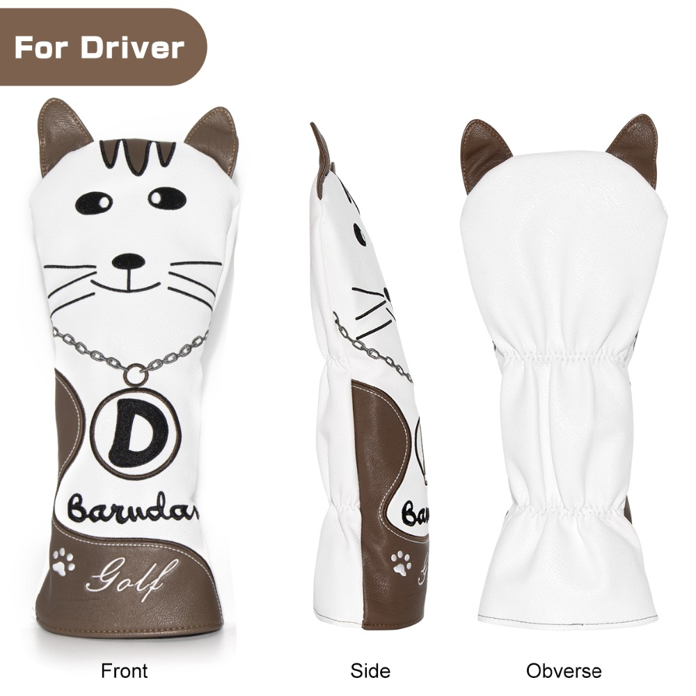 7 golf club head covers for drivers utility rescue fairway clubs,golf club headcovers, driver cover,utility cover,rescue cover fairway wood cover,UT cover