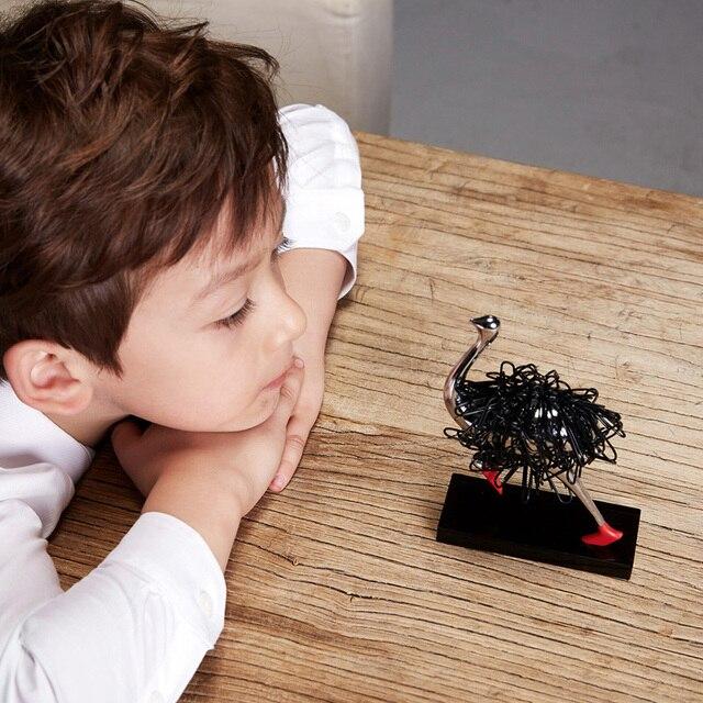 Страусиный магнитный держатель для бумаги украшение офисный