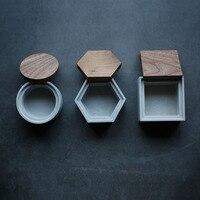 시멘트 저장 상자 실리콘 금형 뚜껑 금형 사각형 원형 육각 상자 금형과 콘크리트 금형